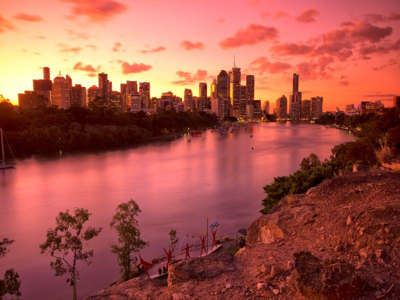 view of brisbane from kangaroo point