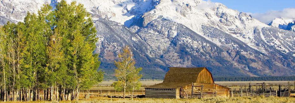 Barn on the high plain, Grand Teton National Park, Wyoming