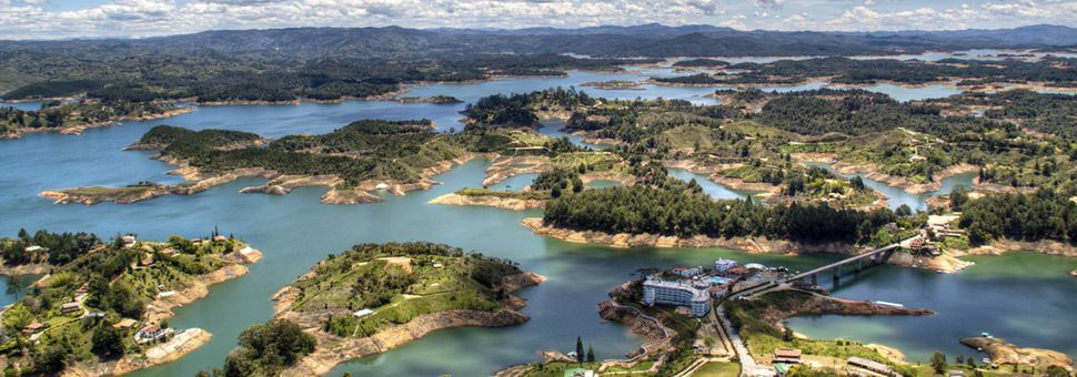 View Over Guatape Lake, Colombia