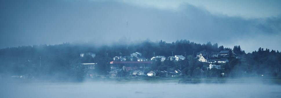 Foggy landscape at Cacouna, Riviera-du-Loup