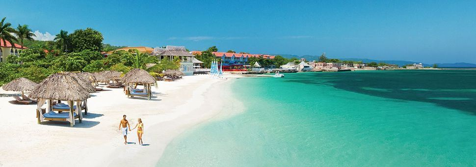 On the beach at Sandals Montego Bay, Jamaica