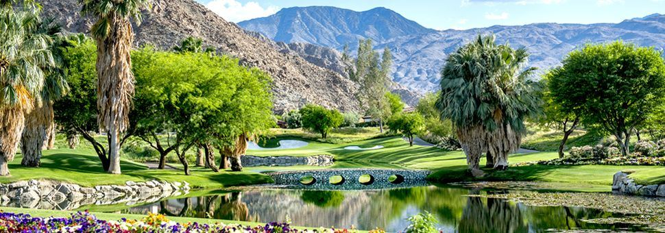 Palm Springs golf course, California
