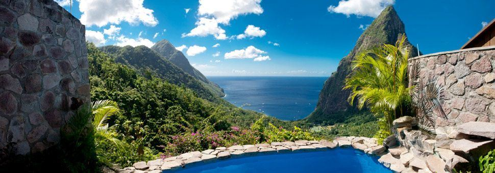 Overlooking the Pitons, St Lucia